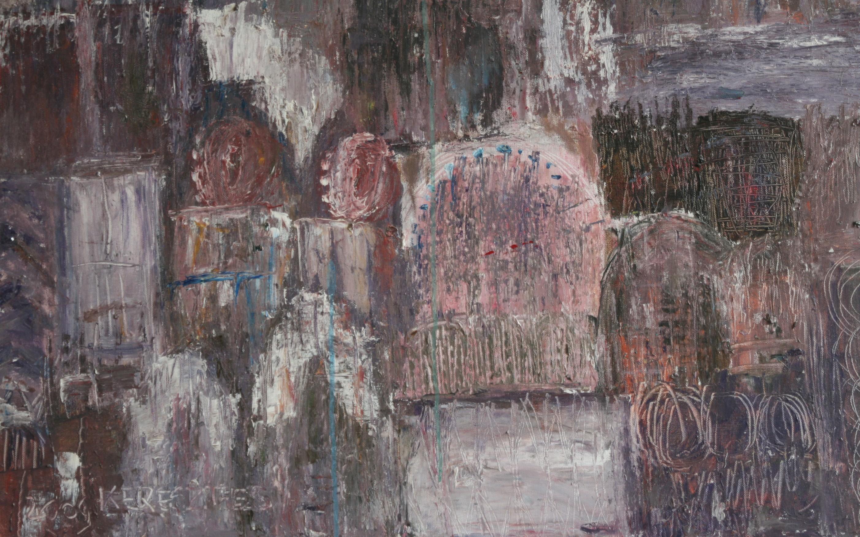 toile 27 ( détail ) - magdalena keresztes, artiste peintre à amiens