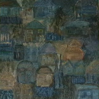 toile paysage bleu magdalena keresztes artiste peintre amiens. Black Bedroom Furniture Sets. Home Design Ideas