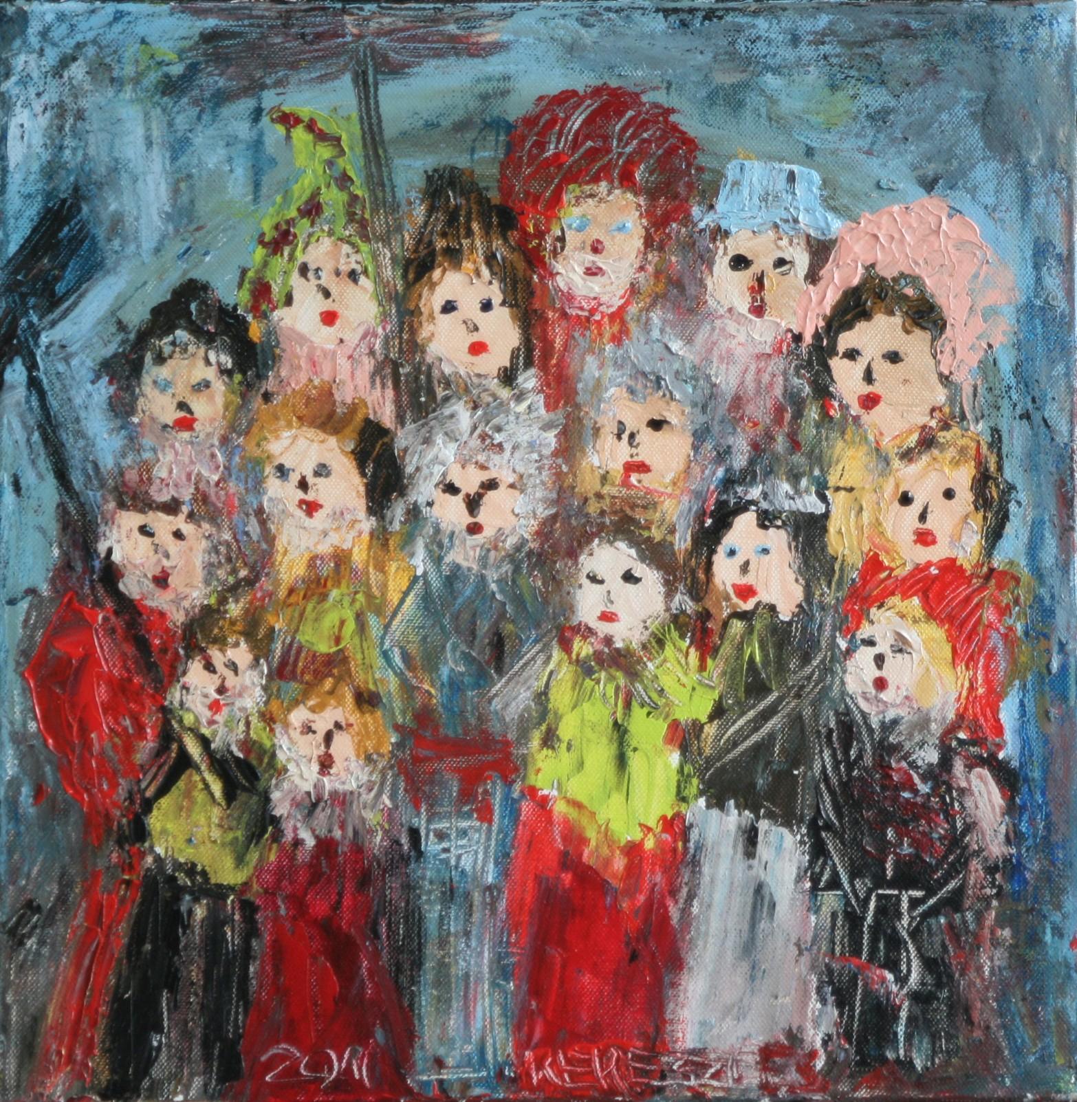 toile chorale - magdalena keresztes, artiste peintre à amiens