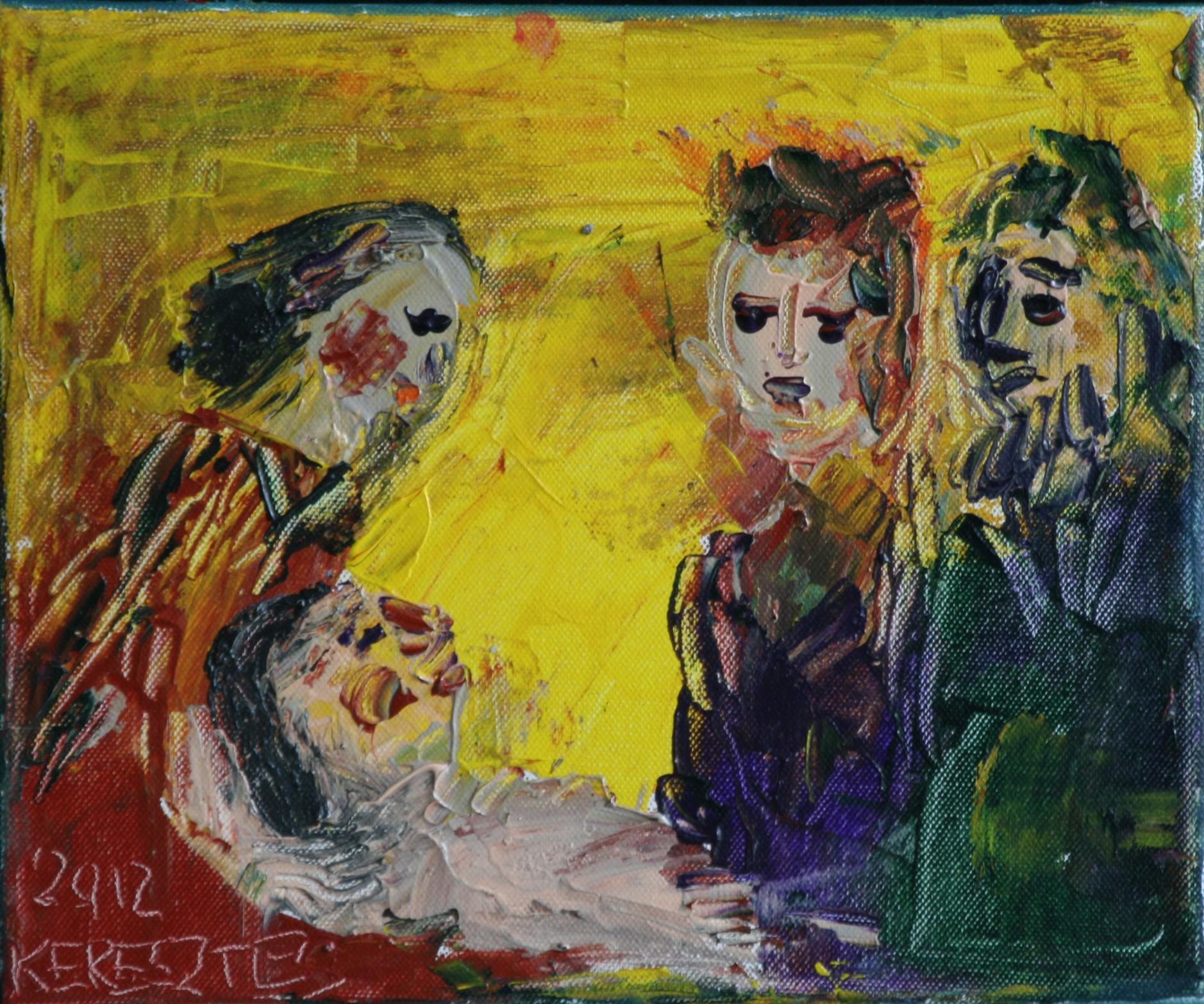 toile fraternite - magdalena keresztes, artiste peintre à amiens