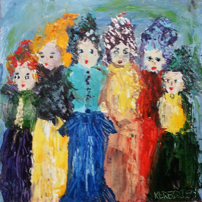 toile deguisements n°1 - magdalena keresztes, artiste peintre à amiens