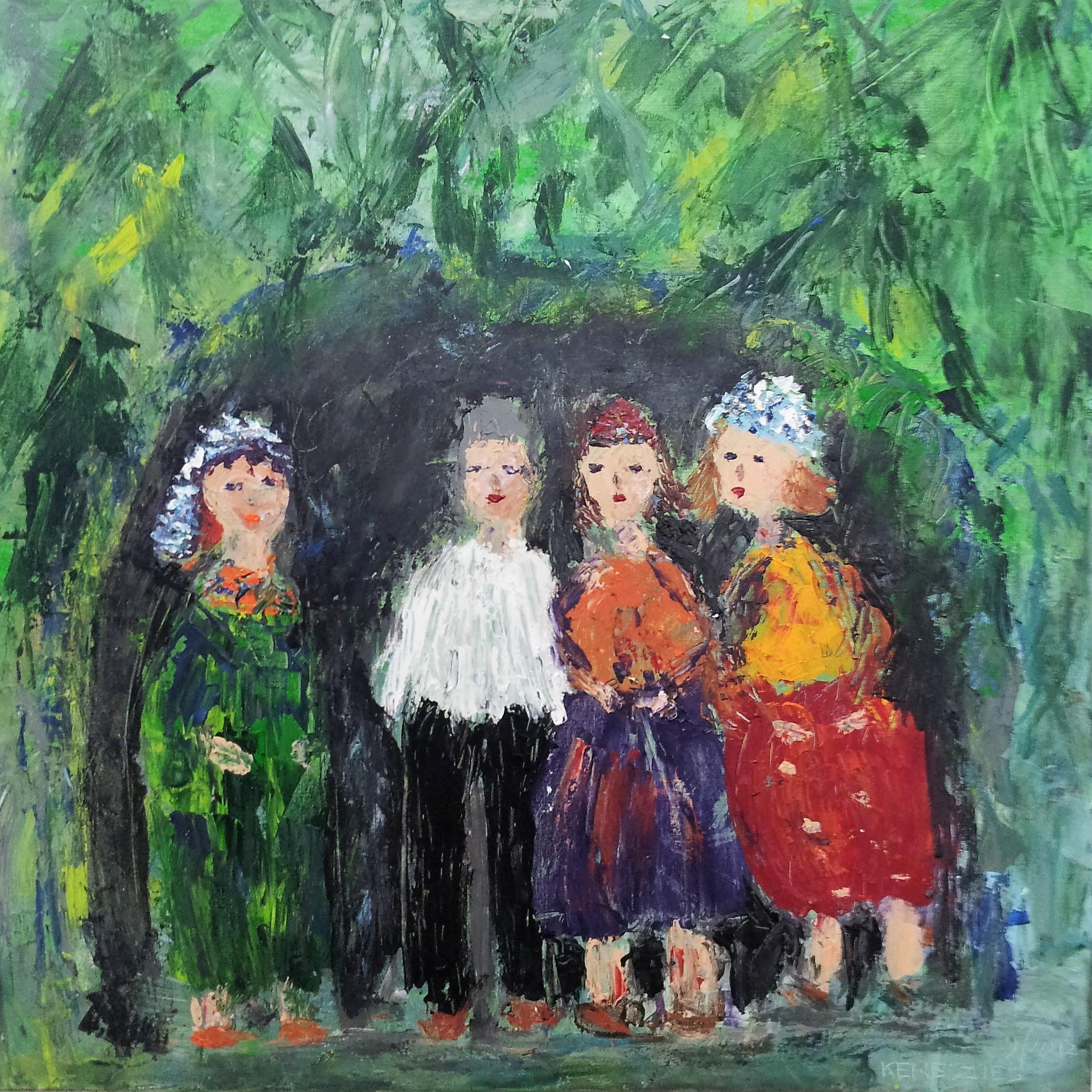 toile sous les arbres dsc 3662 - magdalena keresztes, artiste