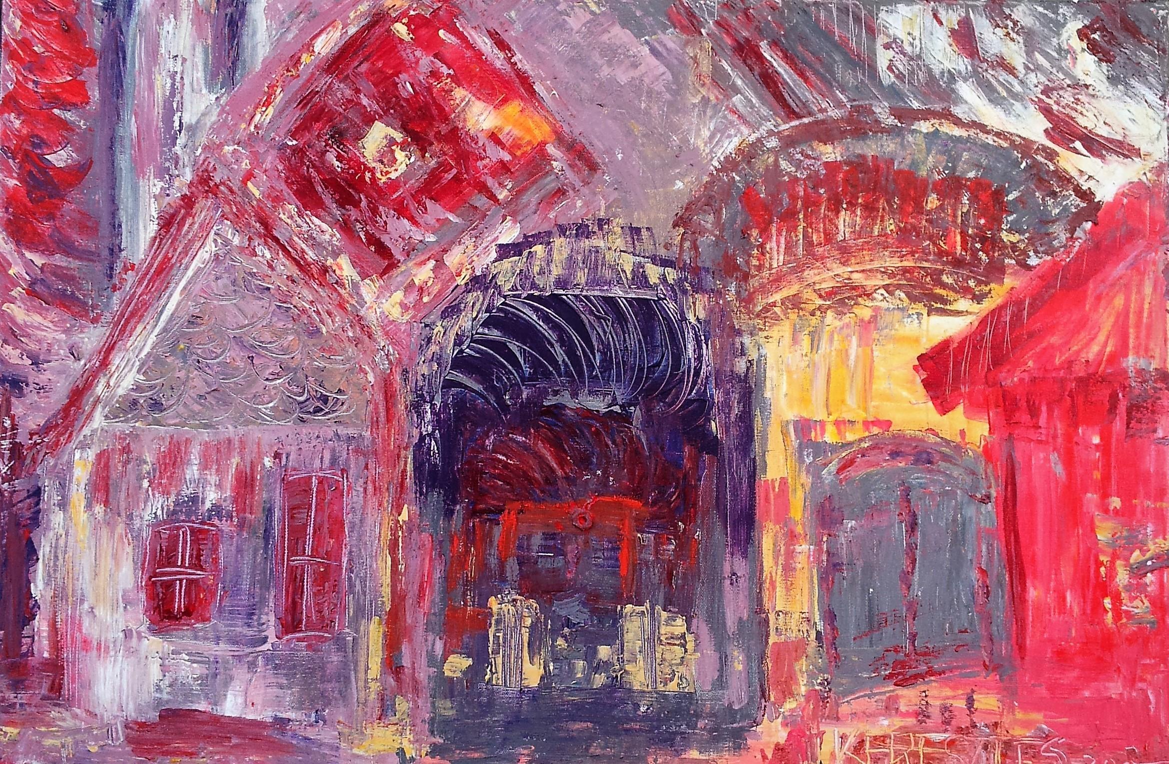 toile ma maison - magdalena keresztes, artiste peintre à amiens