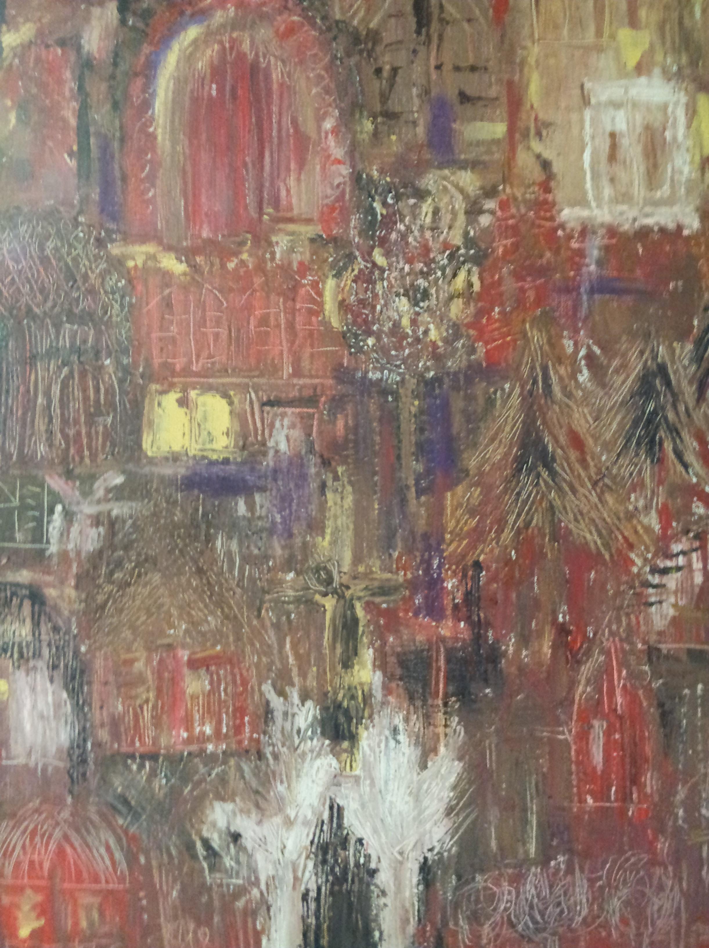 toile dans les carpates - magdalena keresztes, artiste peintre à amiens