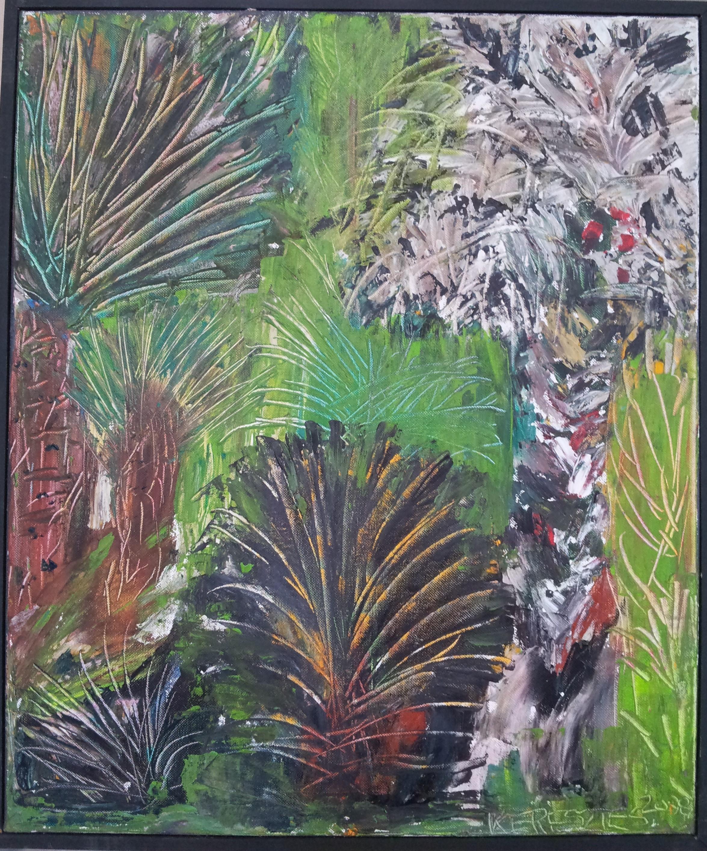 toile les palmiers - magdalena keresztes, artiste peintre à amiens