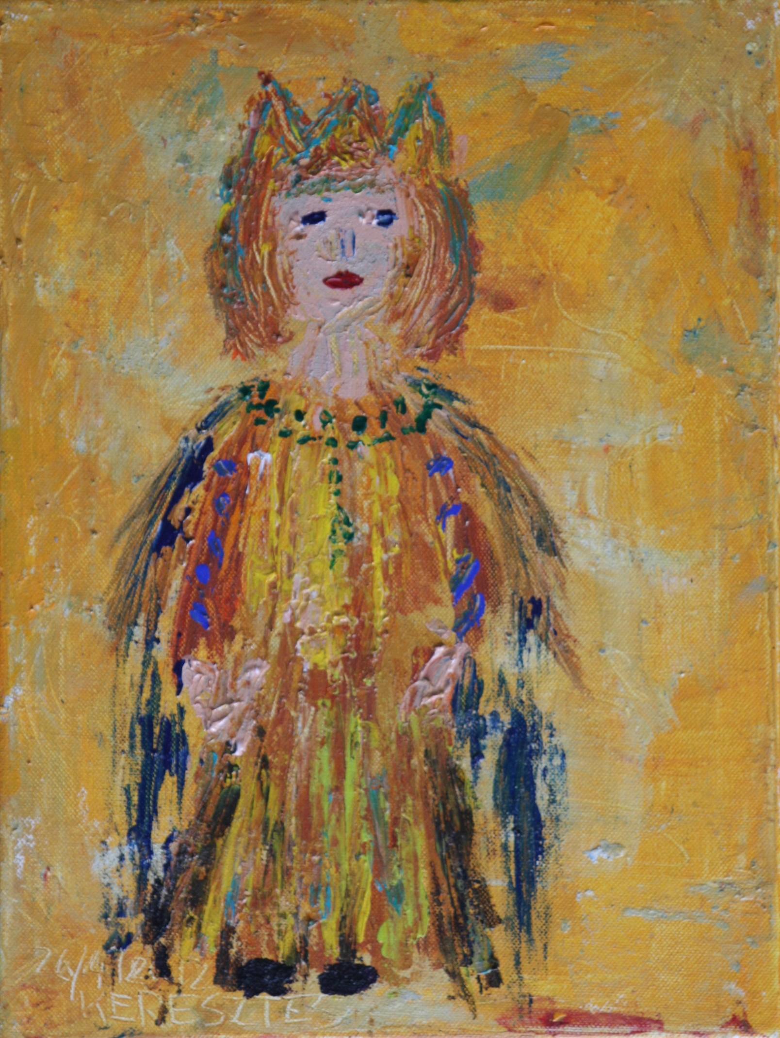 toile l'enfant du soleil - magdalena keresztes, artiste peintre à amiens