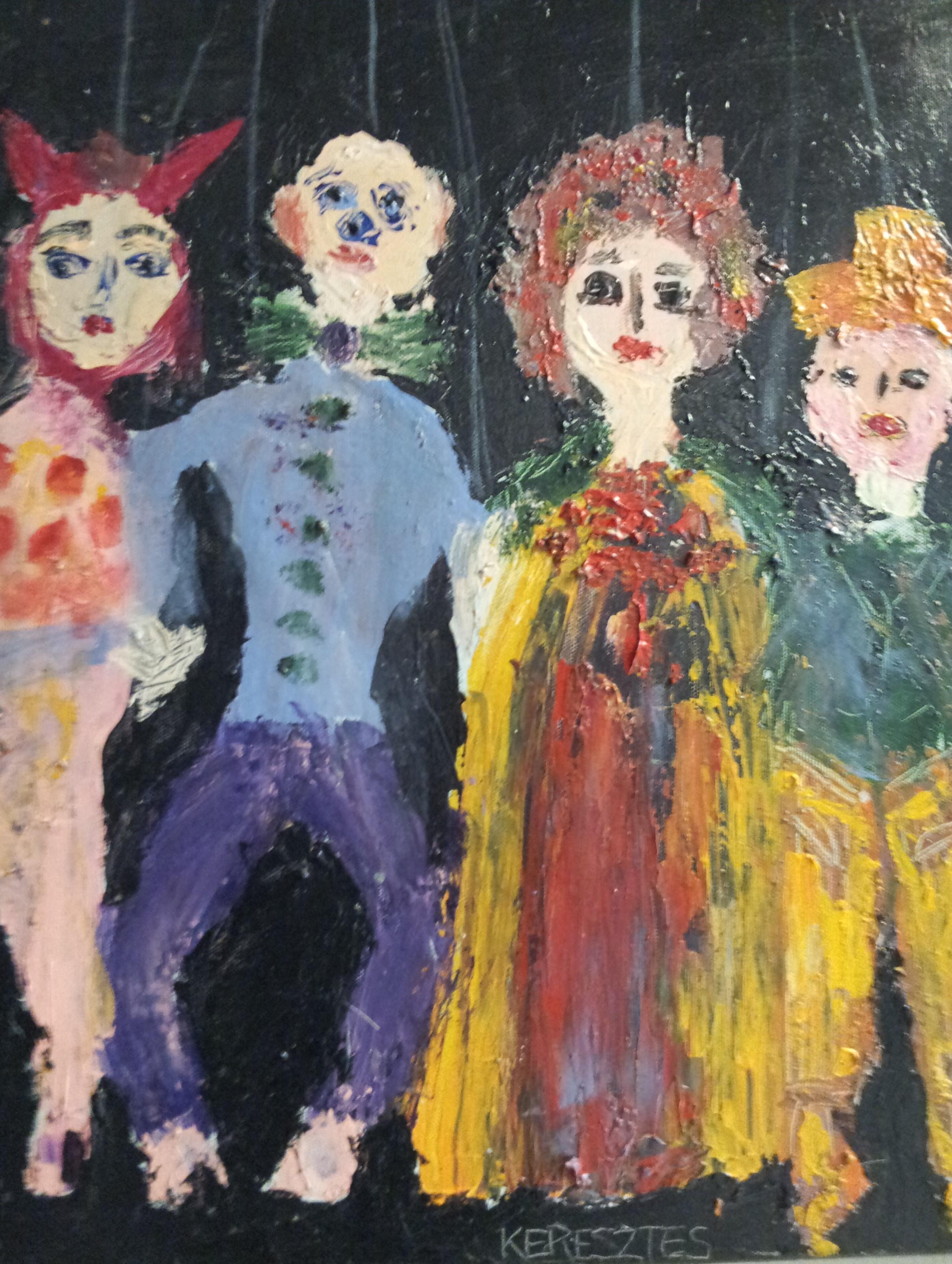 toile les pantins - magdalena keresztes, artiste peintre à amiens