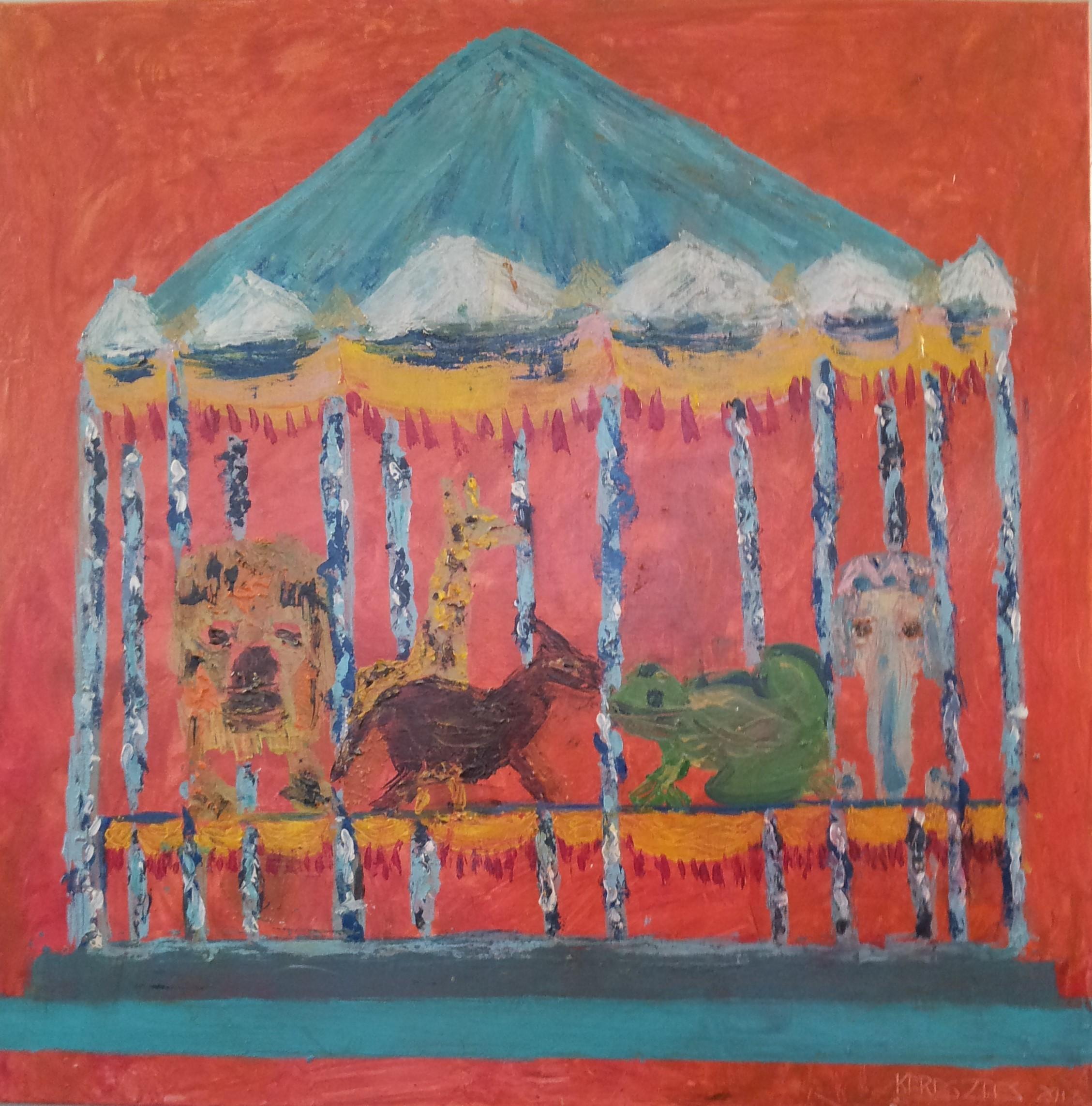 toile manege n°2 - magdalena keresztes, artiste peintre à amiens