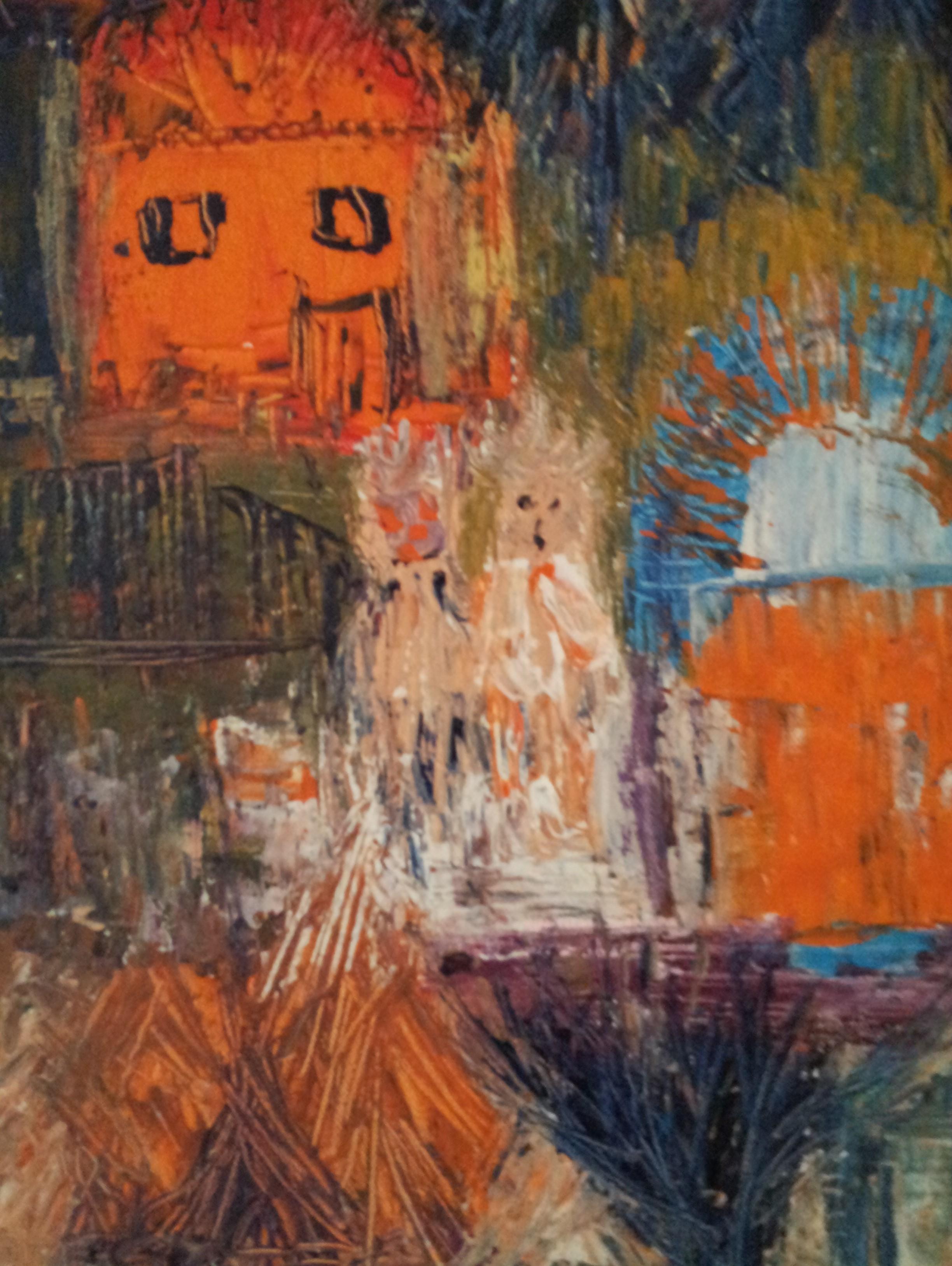toile marionnettes - magdalena keresztes, artiste peintre à amiens